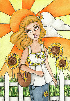 Brianna's Sunflowers by Nora Blansett