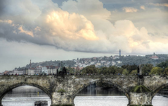 Isaac Silman - Bridge and clouds Prague