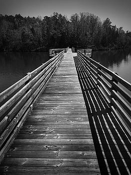 Bridge at Chester State Park in Black and White by Kelly Hazel
