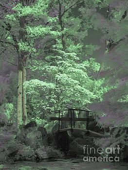 Bridge At Clark Gardens by Jeff Breiman
