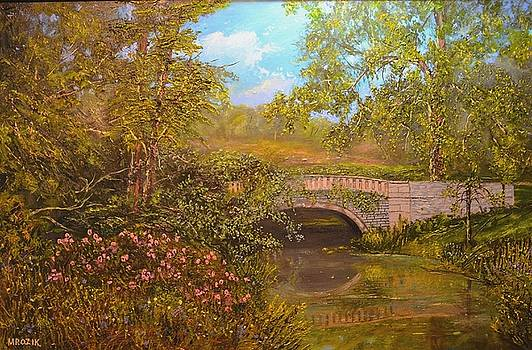 Bridge at Minterne by Michael Mrozik