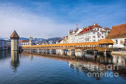 Bridge in Lucerne by Pravine Chester