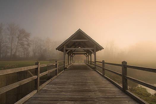 Bridge in Morning Fog by Victoria Winningham