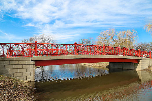 Bridge in the bright skies by Dave Manning