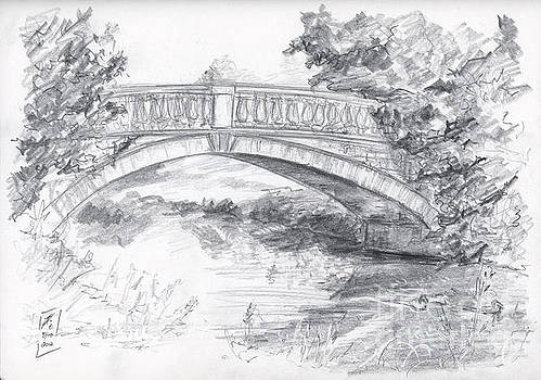 Bridge over the River White Cart by Brandy Woods
