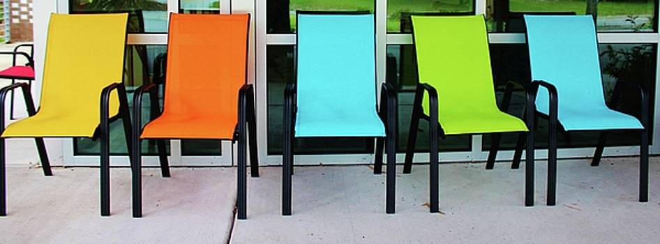 Bright And Bold Chairs by Cynthia Guinn