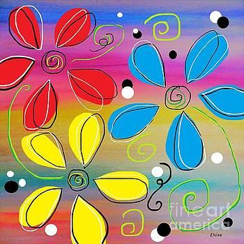 Bright Flowers Intertwined by Eloise Schneider