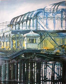 Brighton's West Pier-Lone Survivor by Pauline Sharp