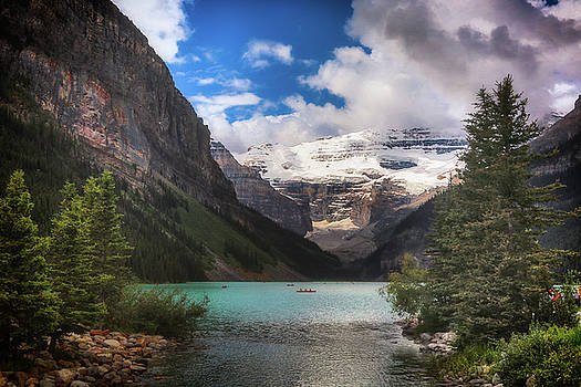 Brilliant Lake Louise by Monte Arnold