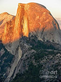 Brilliant Sunset on Half Dome in Yosemite National Park from Glacier Point by Rincon Road Photography By Ben Petersen