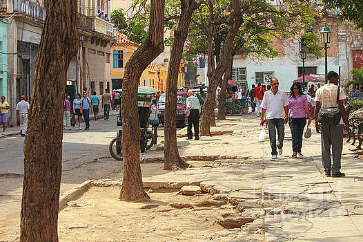 Broken up street in Havana by Patricia Hofmeester