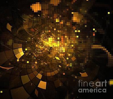 Bronze Gold Blocks by Kim Sy Ok