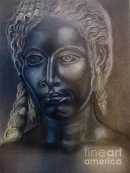 Bronze woman with Silver by Drew