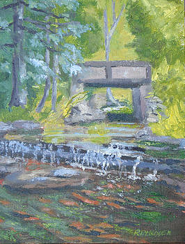 Brook at Jacques Cartier St Park NY by Robert P Hedden