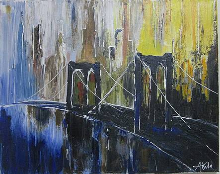 Brooklyn Bridge NY by Aisha Khan