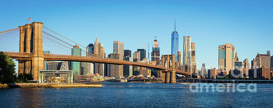 Brooklyn Bridge Panorama by Inge Johnsson