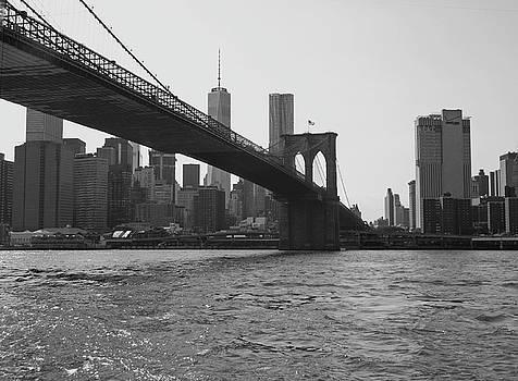 Brooklyn Bridge To Manhattan by Emmy Marie Vickers