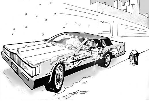 Brooklyn Cadillac by Jose Roldan Rendon
