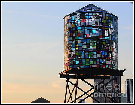 Brooklyn's Glowing Glass Water Tower - Public Art by Dora Sofia Caputo Photographic Art and Design