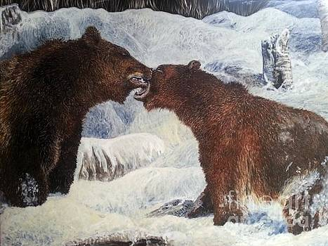Brotherly Love - Grizzly Bears by Jan Lowe