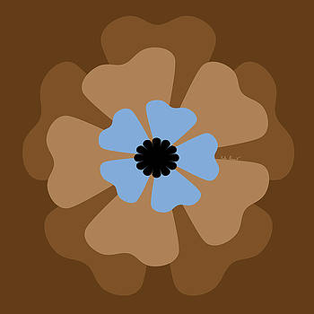 Kate Farrant - Brown and Blue Flower
