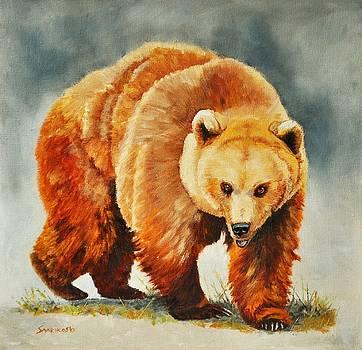 Brown Bear - On the Turn by Louise Charles-Saarikoski