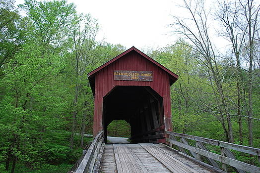 Brown County Covered Bridge by Beverly Cazzell