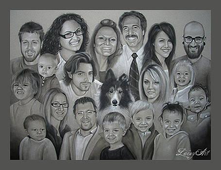 Brown Family Super Portrait by Alaina Ferguson
