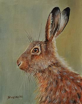 Brown Hare by Louise Charles-Saarikoski
