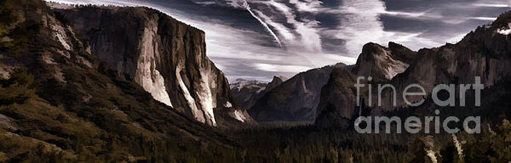 Chuck Kuhn - Brown Tones Panorama Yosemite