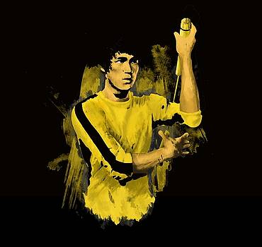 Bruce Lee - Game of Death digital art by James Lale