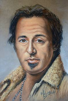 Bruce Springsteen Portrait by Melinda Saminski