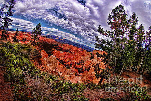 Bryce Canyon National Park Awesome Clouds by Blake Richards