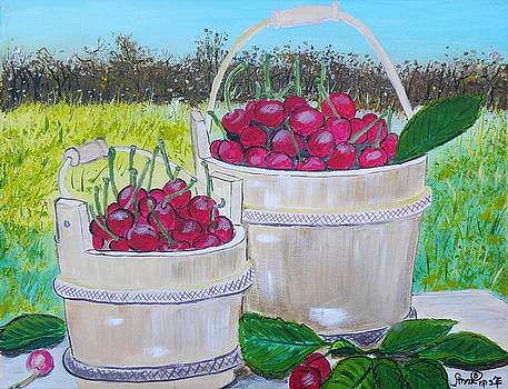 Bucket of Cherries by Anna Baker