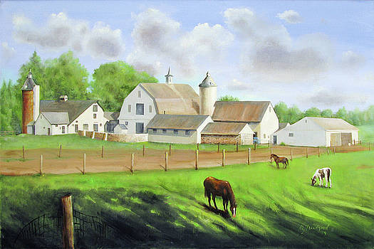 Buckingham Horse Farm by Oz Freedgood