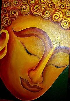 Xafira Mendonsa - Buddha meditating in the Sun rise
