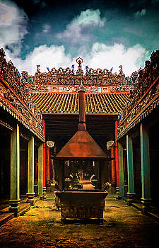 Buddhist Temple Courtyard by Joseph Hollingsworth