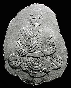 Budha - Fingernail Relief Drawing by Suhas Tavkar