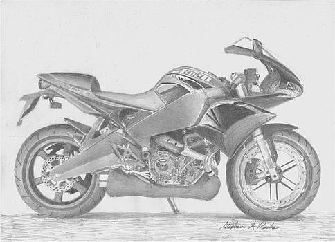 Buell 1125R MOTORCYCLE ART PRINT by Stephen Rooks