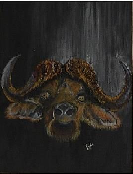 Buffalo Head by Linda Ferreira