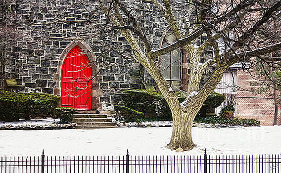 Building with Red Door by Nishanth Gopinathan