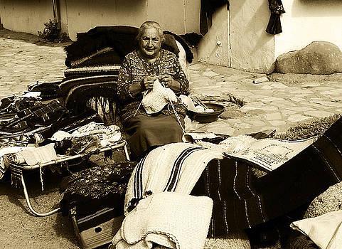 Bulgarian Market Lady by Ingrid Dance