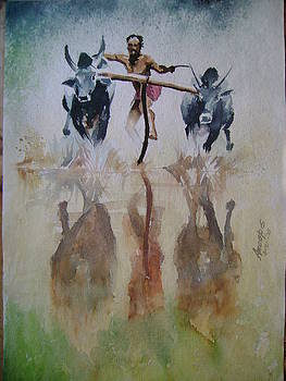 Bull Racing by Anoop S