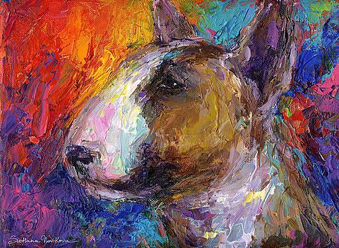Svetlana Novikova - Bull Terrier Dog painting
