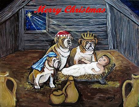 Bulldog Christmas by Pam Utton