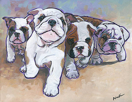 Bulldog Puppies by Nadi Spencer