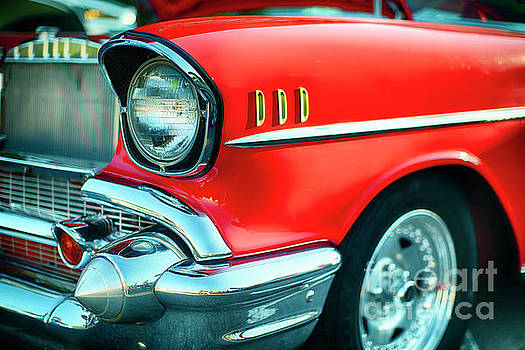 Bumper and Headlight Close up of a Vintage Chevrolet by George Oze