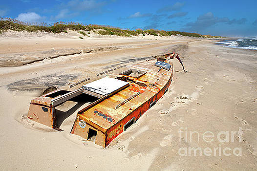 Dan Carmichael - Buried Shipwreck Boat on the Outer Banks