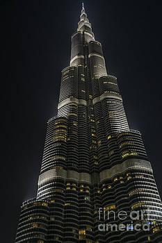 Burj-Khalifa at Night by Steve Rowland