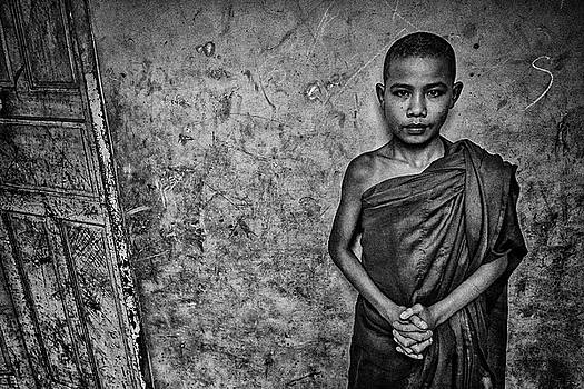 Burma Orphan Monk by David Longstreath